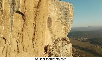 Impressive cave city - Aerial footage Impressive cave city