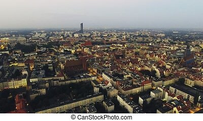 Aerial footage of Wroclaw, European Capital of Culture....
