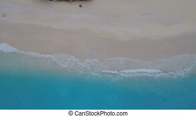 Aerial Footage Shipwreck Bay Navagio Beach, Zakynthos,...