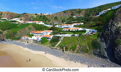 Aerial from Arifana in Portugal - Aerial from Arifana on the...