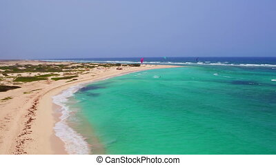 Aerial from Kite surfing at Aruba