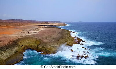 Aerial from north coast on Aruba - Aerial from the wild...