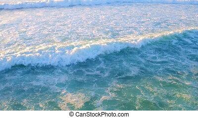 Aerial from ocean waves at the atlantic ocean