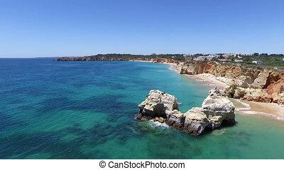 Aerial from Praia da Rocha Portugal - Aerial from Praia da...