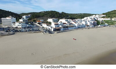 Aerial from Salema Portugal