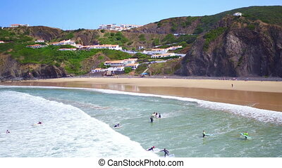 Aerial from surfing in Portugal - Aerial from surfing at...