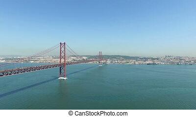25 Abril bridge in Lisbon Portugal