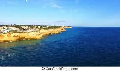 Aerial from the Carvoeiro Portugal