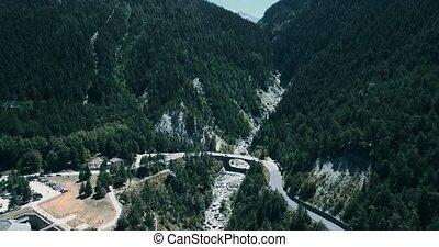 Aerial, Fyling Above Fort Victor-Emmanuel, France - bleached...