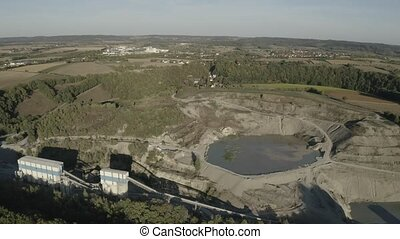 Aerial, German Quarry - Native Version - Native 10 Bit, Log...