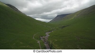 Aerial, Glen Etive, Scotland - Native Version - Native...