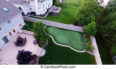 Aerial golf green nature landscape