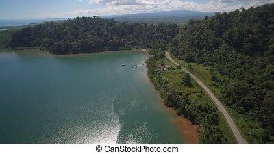 Aerial, Golfo Colorado, Costa Rica - Native Material,...