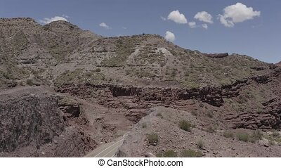 Aerial, Gorge At Valle De La Luna, Argentina - This clip is...