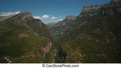 Aerial, Gorge Las Abetosas, Pyrenees, Spain - graded Version...