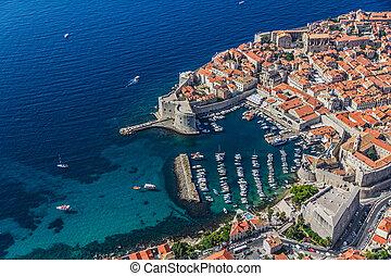 Dubrovnik old town - Aerial helicopter shoot of Dubrovnik...