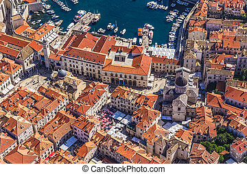 Dubrovnik old town - Aerial helicopter shoot of Dubrovnik ...