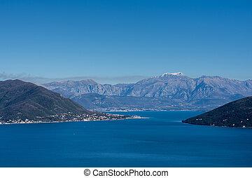 Aerial image of the adriatic sea landscape