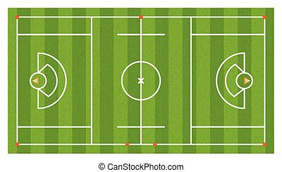 Aerial Lacrosse Field Illustration - An aerial view of a...