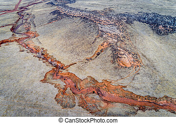 aerial landscape abstract of Colorado foothills