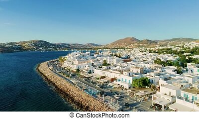 Aerial landscape at Paros island, Greece