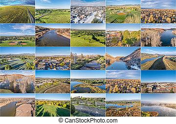 aerial landscape of northern Colorado
