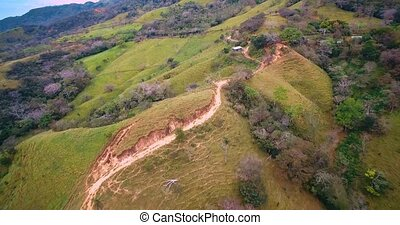 Aerial, Landscapes Around San Isidro Costa Rica - Graded and...