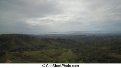 Aerial, Landscapes Around San Isidro Costa Rica - Native...