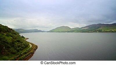 Aerial, Loch Kishorn, Scotland - Graded Version - Graded and...
