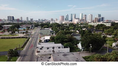 Aerial Look at South 20th Street Palmetto Beach Tampa...
