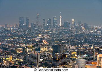 Los Angeles Cityscape Sunset