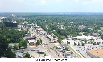 Aerial Memphis Tennessee East - A view out East from high up...