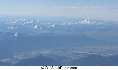 Aerial Mount Baker And Fraser River