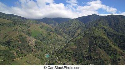 Aerial, Mountains Around Province San Jose, Costa Rica -...