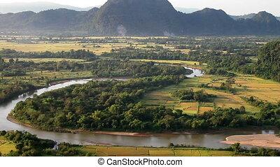 Aerial mountains landscape