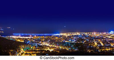 Aerial night Santa Cruz de Tenerife Canary Islands