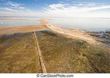 aerial ocean landscape