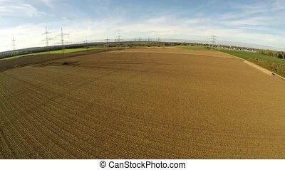 Aerial of a landscape with agriculture in germany - aerial...