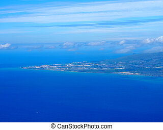 Aerial of Barbers Point, and Kalaeloa Airport