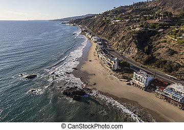 Pacific Coast Highway in Malibu California