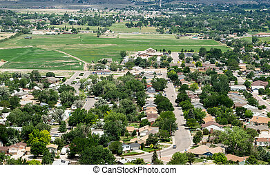 Aerial of City Suburban Neighborhood