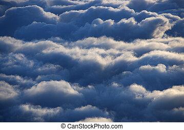 Aerial of clouds.