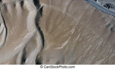 Aerial of Desert Terrain - Drone, exterior, pushing in, wide...