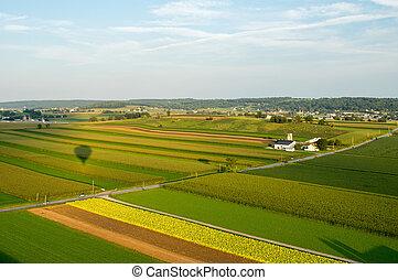 Aerial of Farmland