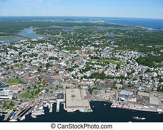 Gloucester,mass - Aerial of Gloucester,mass