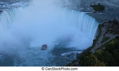 Aerial of Horseshoe Falls in Niagara Falls, Canada