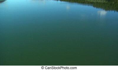 Aerial of Hyalite Reservoir near Bozeman Montana