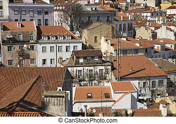 Aerial of Lisbon.