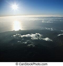 Aerial of Maui.