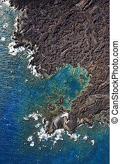 Aerial of Maui coast.